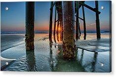 Sunrise Pier Acrylic Print