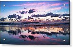 Sunrise Pink Wisps Delray Beach Florida Acrylic Print