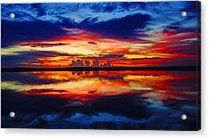 Sunrise Rainbow Reflection Acrylic Print