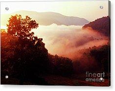 Sunrise Rich Mountain Acrylic Print by Thomas R Fletcher