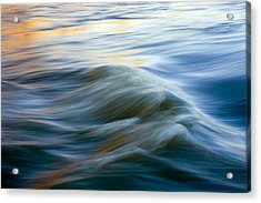 Sunrise Ripple Acrylic Print by Mike  Dawson