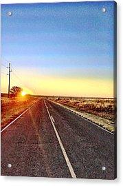 Sunrise Road Acrylic Print