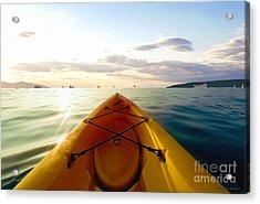 Sunrise Seascape Kayak Adventure Acrylic Print