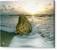 Sunrise Seascape Wisdom Beach Florida C4 Acrylic Print