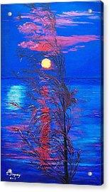 Sunrise Silhouette Acrylic Print by Sharon Duguay