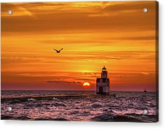 Acrylic Print featuring the photograph Sunrise Solo by Bill Pevlor