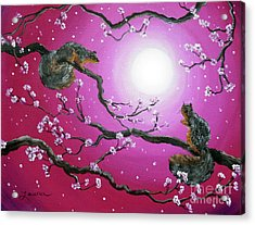 Sunrise Squirrels Acrylic Print by Laura Iverson