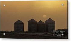 Sunrise Through The Fog Acrylic Print by Brad Allen Fine Art
