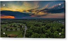Sunrise Thru The Clouds Acrylic Print