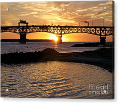 Sunrise Under Coleman Bridge Acrylic Print
