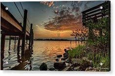 Sunrise Under The Dock Acrylic Print