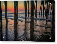 Sunrise Under The Pier Acrylic Print