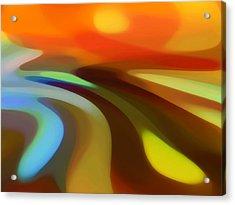 Sunrise Valley Acrylic Print by Amy Vangsgard