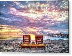Sunrise View Acrylic Print by Debra and Dave Vanderlaan