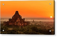 Sunrise View Of Dhammayangyi Temple Acrylic Print