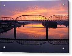 Sunrise Walnut Street Bridge 2 Acrylic Print