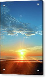 Sunrise With Flare Acrylic Print by David Stasiak