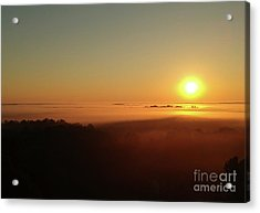 Sunrise With Fog  Acrylic Print