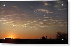 Sunrise With Windmill Acrylic Print