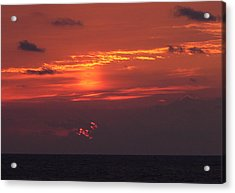 Sunrising Out Of Clouds Acrylic Print by Tom LoPresti