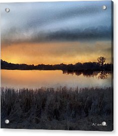 Sunrise On A Frosty Marsh Acrylic Print by RC deWinter
