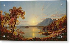 Sunset  Lake George Acrylic Print by Jasper Francis Cropsey