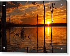 Acrylic Print featuring the photograph sunset @ Reservoir by Angel Cher