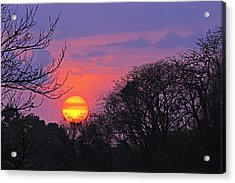 Sunset 1-st Lucia Acrylic Print by Chester Williams
