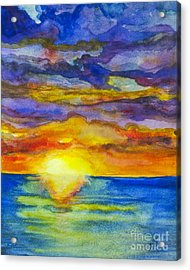 Acrylic Print featuring the painting Sunset 1 by Suzette Kallen