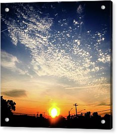 Sunset 25 May 16 Acrylic Print