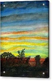 Sunset #27 Backyard Acrylic Print