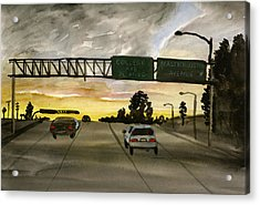 Sunset #28 Freeway Acrylic Print