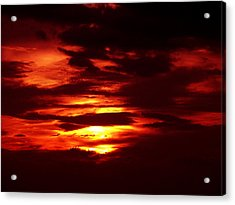 Sunset 3 Acrylic Print by Evelyn Patrick
