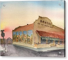 Sunset 38 Grove Pastry Shop Acrylic Print