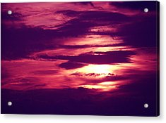 Sunset 4 Acrylic Print by Evelyn Patrick