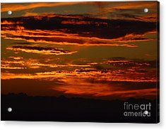 Sunset 5 Acrylic Print by Jean Bernard Roussilhe