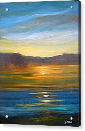 Sunset 9 Acrylic Print by Jeannette Ulrich