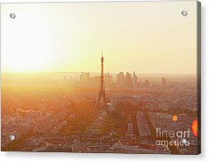 Sunset Above Paris Acrylic Print