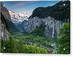 Sunset Above The Lauterbrunnen Valley Acrylic Print