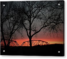 Sunset Across The Cumberland Acrylic Print
