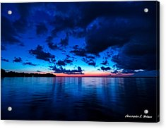 Sunset After Glow Acrylic Print by Christopher Holmes