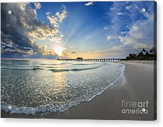Acrylic Print featuring the photograph Sunset After The Storm by Hans- Juergen Leschmann