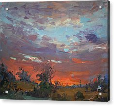 Sunset After Thunderstorm Acrylic Print by Ylli Haruni