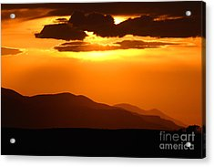 Sunset Along Colorado Foothills Acrylic Print by Max Allen