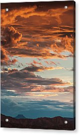 Sunset And Cerro Pedernal Acrylic Print