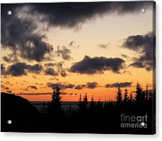 Sunset And Dark Clouds Acrylic Print by Barbara Griffin