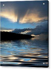 Sunset And Sun Rays Acrylic Print