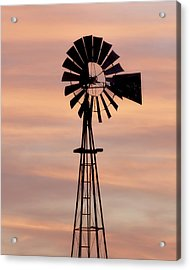 Sunset And Windmill 06 Acrylic Print