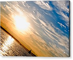 Sunset Angle Acrylic Print by Tom Dowd