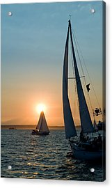 Sunset Apex Acrylic Print by Tom Dowd